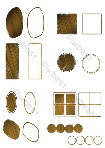 Commercial element of light and light effect seal PNG Images Template PSD