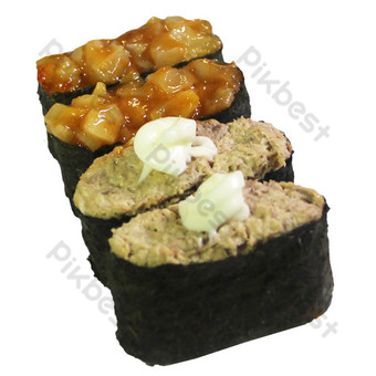 Conch Tuna Salad Sushi PNG Images Template RAW