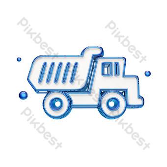 icono de camión azul creativo Elementos graficos Modelo PSD
