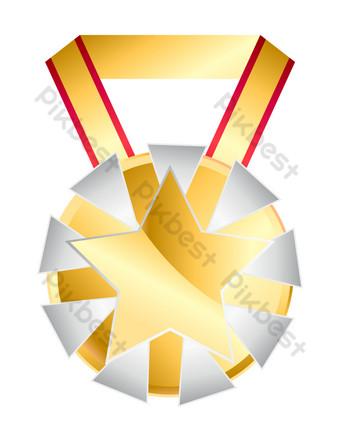 創意五星級獎章圖 元素 模板 PSD