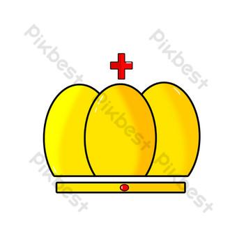 cruz roja joya corona logo vector Elementos graficos Modelo PSD