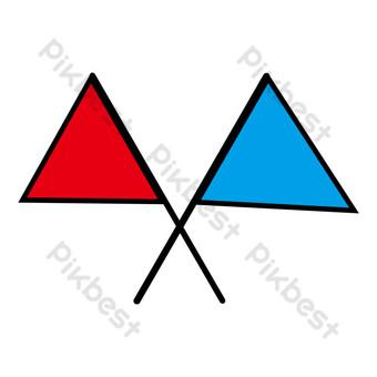 banner abstracto rojo y azul cruzado Elementos graficos Modelo PSD