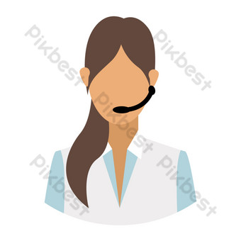Customer service lady PNG Images Template AI