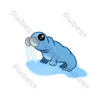 Cute sea lion cartoon marine life PNG Images Template PSD