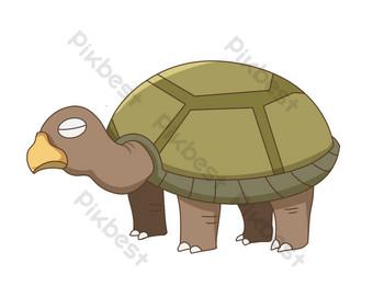 linda tortuga marina Elementos graficos Modelo PSD