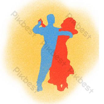 舞蹈剪影男女交誼舞 元素 模板 PSD