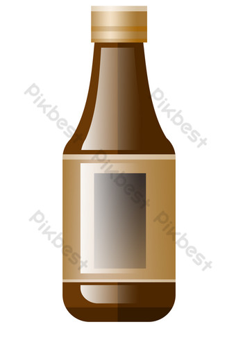 Delicious seasoning soy sauce PNG Images Template PSD