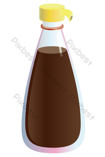 Delicious seasoning soy sauce PNG Images Template AI