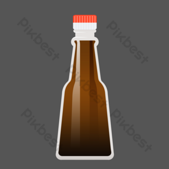 Delicious soy sauce seasoning PNG Images Template PSD