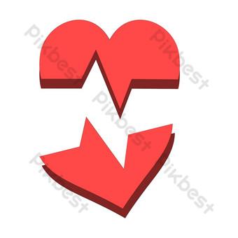 Divorce separation heart PNG Images Template AI