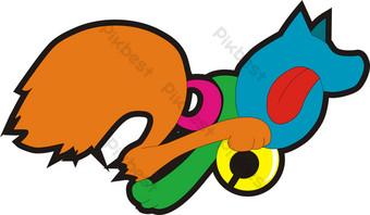 dog power go diseño de iconos logotipo publicitario año del perro Elementos graficos Modelo AI