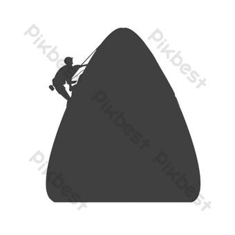 festival del barco del dragón escalada montaña zongzi silueta Elementos graficos Modelo PSD