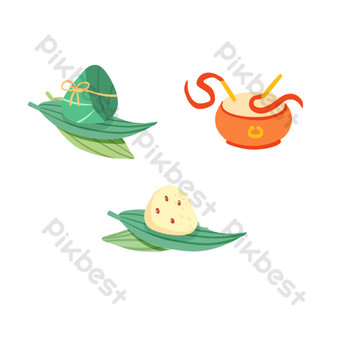 Dragon Boat Festival Zongzi Drum Separator PNG Images Template PSD