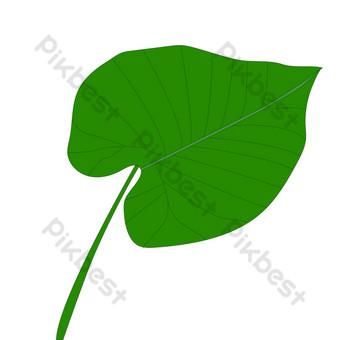 goteo guanyin planta hoja diseño elemento de decoración ai pintado a mano simple Elementos graficos Modelo AI