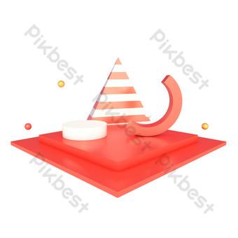 電子商務裝飾舞台海報場景裝飾 元素 模板 PSD