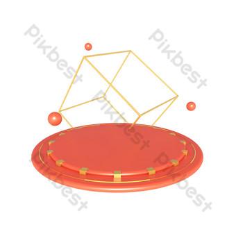 電子商務幾何舞台擺放台海報裝飾 元素 模板 PSD