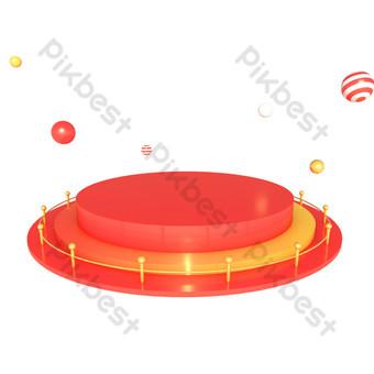 電子商務幾何舞台海報裝飾展位 元素 模板 C4D