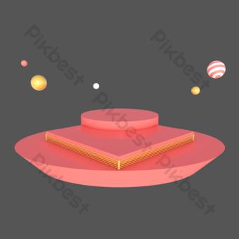 電子商務幾何舞台海報裝飾 元素 模板 C4D