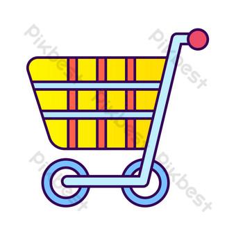 icono de comercio electrónico carrito de compras Elementos graficos Modelo AI