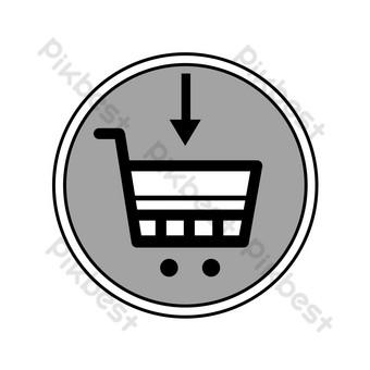 icono de comercio electrónico carrito de compras Elementos graficos Modelo PSD
