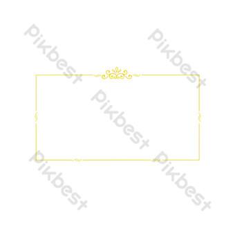 歐洲經典金色邊框紋理 元素 模板 PSD
