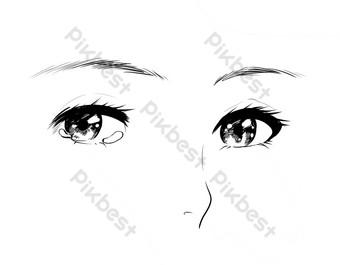 眼睛和五官 元素 模板 PSD