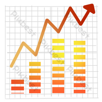 Financing stocks rise PNG Images Template PSD
