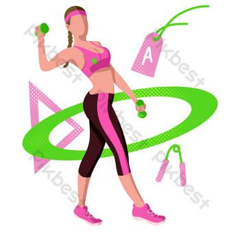 اللياقة البدنية الرياضة حولا هوب التوضيح صور PNG قالب PSD