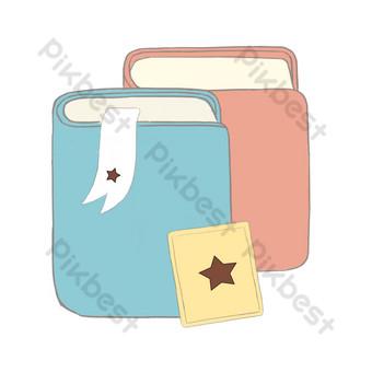 五角星書裝飾圖 元素 模板 PSD