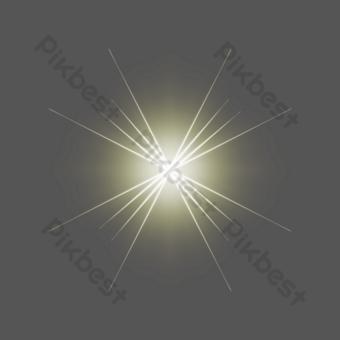 閃光燈簡單星光效果閃光燈 元素 模板 PSD