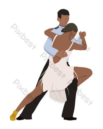 الرقص اللاتينية راقصة مسطحة صور PNG قالب PSD