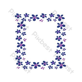 borde de cuenta de mano floral Elementos graficos Modelo PSD