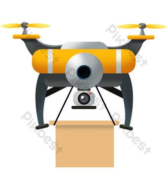 تحلق طائرة بدون طيار النقل صور PNG قالب PSD