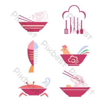 logo de comida Elementos graficos Modelo AI