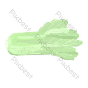 免費繪製綠色無污染的稀疏白菜 元素 模板 PSD