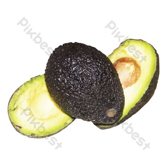 Fresh fruit high-protein separate avocado HD physical map PNG Images Template RAW