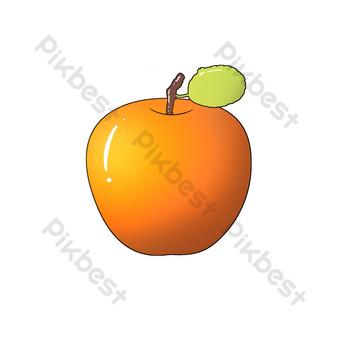 patrón decorativo de frutas manzana brillante Elementos graficos Modelo PSD