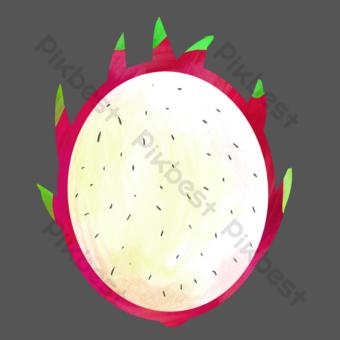 فاكهة التنين الأبيض القلب فاكهة صور PNG قالب PSD