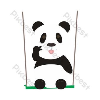 panda gigante tijeras mano elementos comerciales Elementos graficos Modelo MAX