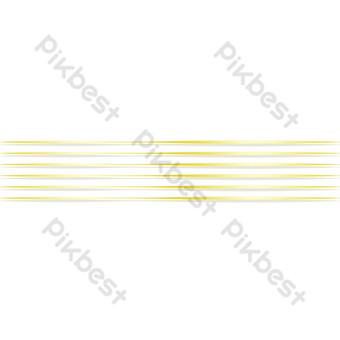 خطوط أفقية ذهبية صور PNG قالب PSD