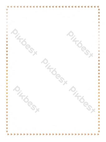 金色簡約海報邊框珍貴 元素 模板 PSD