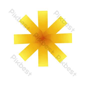 Ruban doré mot universel peint à la main PNG Éléments graphiques Modèle PSD