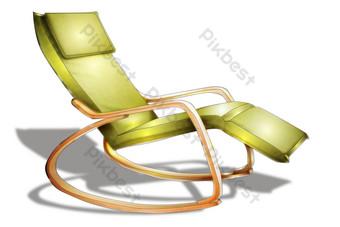 草綠色軟午睡椅 元素 模板 PSD