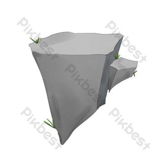التوضيح الحجر الرمادي الكرتون صور PNG قالب PSD