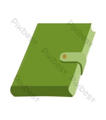 اللوازم المكتبية الكتاب الأخضر صور PNG قالب PSD