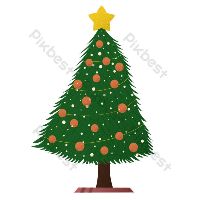 Green Christmas Tree Free Cutout Png Images Psd Free Download Pikbest