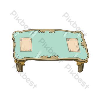 غرفة المعيشة طاولة القهوة الخضراء صور PNG قالب PSD