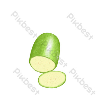 綠色黃瓜蔬菜水果蔬菜健康自然無污染有機農作物手繪逼真無扣 元素 模板 PSD