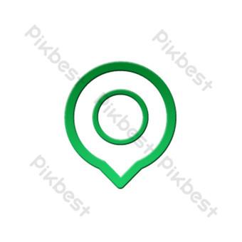 punto de logotipo de icono de seguridad de tráfico degradado plano verde Elementos graficos Modelo PSD