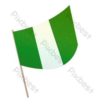 зеленый иностранный флаг свободный вырез Графические элементы шаблон PSD